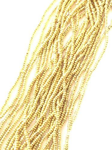 13/0 Charlotte Cut Preciosa Czech 24 KT Gold Glass Seed Beads hank-12 Strands