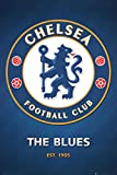 Chelsea FC Club Crest Poster 24 x 36in