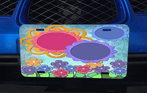 Flower Garden Scrapbook Artwork Aluminum License Plate for Car Truck Vehicles ()