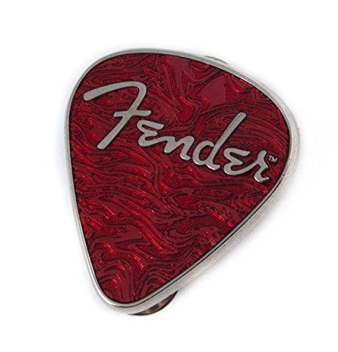 Fender Lapel Pin Guitar Pick Red ()