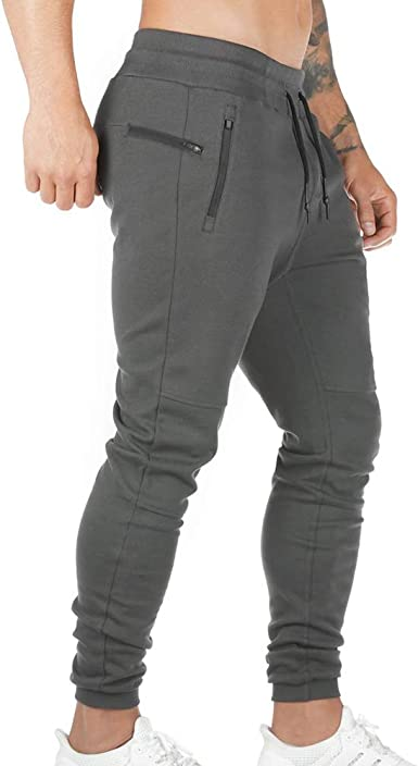 OEAK Homme Pantalon Cargo de Sport Pants Jogging Ceinture Elastique Pantalons Slim Fit en Coton Confortable Sportwear Multi Poches