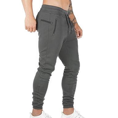 Vertvie Herren Jogginghose Slim Fit Sporthose Trainingshose mit Seitentaschen Fitnesshose Freizeithose Sweatpants