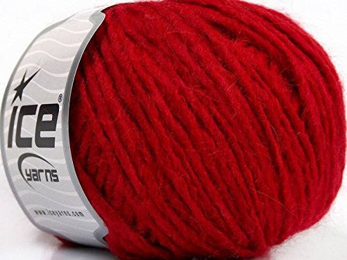 ETNO Alpaca Red - Merino Wool Alpaca Acrylic Blend Yarn - 50 Gram, 82 Yards