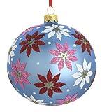 Reed & Barton Poinsettia Ball Christmas Ornament, 4-Inch