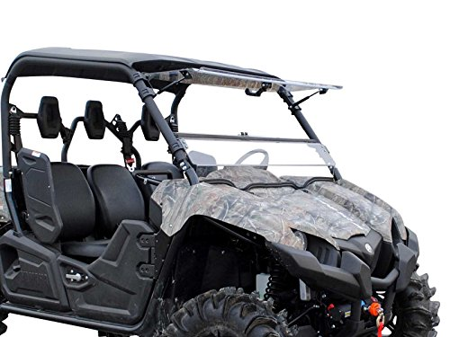 Scratch Resistant 3-IN-1 Flip Windshield for Yamaha Viking/Viking VI (2014+) - Hard Coated for Long Life and Extreme Durability - Easy to Install! ()