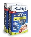 SleepRight Intra-Nasal Breathe Aids – Breathing Aids For Sleep – Nasal Dilator – 45 Day - 2 Pack