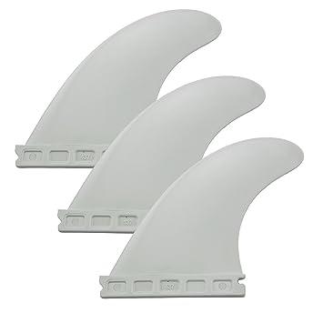 Mangobuy futuro tabla de surf Aleta Set Negro Blanco Verde Color tabla de surf aletas aleta conjunto de 3 con futuros base G5 aleta longboard, ...