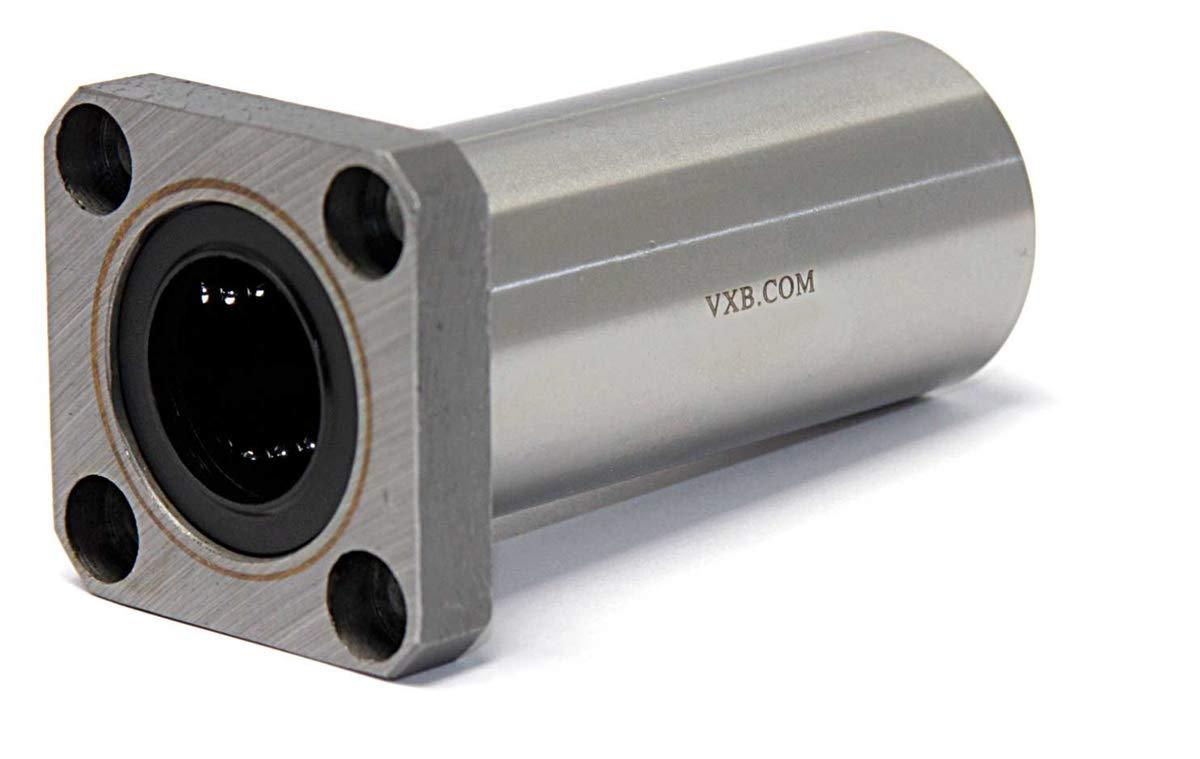 Flanged Linear Motion Ball Bushing Inner Diameter 45mm 8mm Length VXB Brand LMEK8LUU 8mm Square Flanged Bushing Linear Motion Type