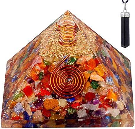 Multistone Orgonite Pyramid Lapis Lazuli Merkaba Reiki Orgone Healing Crystal