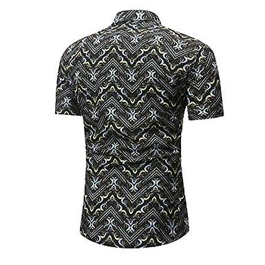 Geometric//Color Block Print IYFBXl Mens Shirt