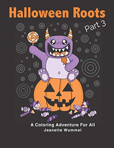 Cute Halloween Monster Coloring Pages (Halloween Roots Part 3)