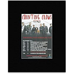 COUNTING CROWS - UK Tour 2014 Mini Poster - 13.5x10cm