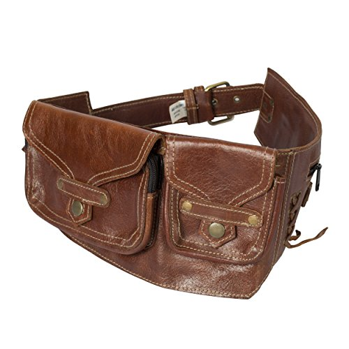 The Women's Traveler - A Leather Hip Pack Utility Belt