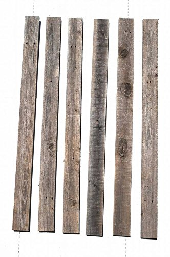 Rustic Weathered Reclaimed Wood Planks for DIY Crafts, Projects and Decor (20 Planks - 48'' Long) by Rockin' Wood (Image #5)