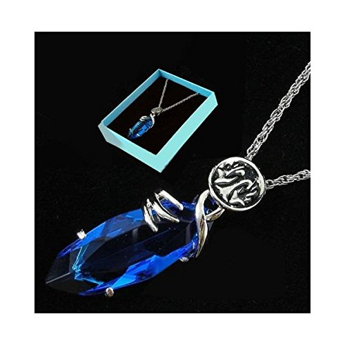 Final Fantasy X Blue Stone Necklace Pendant Cosplay