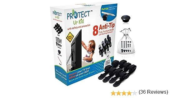 Anti tip Furniture Anchor & TV Straps W/ultra resistente accessori ...