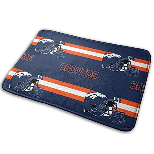 (Sorcerer Design Doormat American Football Team Denver Broncos Indoor Super Non Slip Absorbent Floor Mat Suitable Bathroom Entrance Toilet Bedroom 15.8 X 23.6 Inches)
