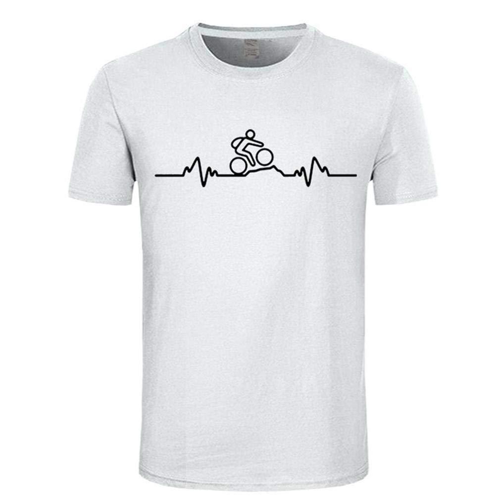 Mountain Biker Heartbeat Impulso Cyclinger S Printing S Funny Short Sleeves Shirts