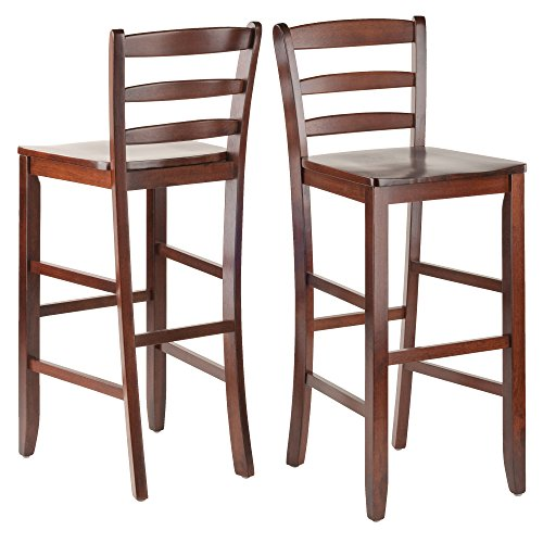 Winsome 29-Inch Bar Ladder Back Stool, Set of 2 (Wooden Stools Breakfast Bar)
