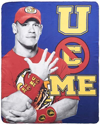Silver Buffalo WE0721 WWE John Cena Fleece Throw Blanket, 50 x 60 inches (John Cena Best Friend In Wwe)