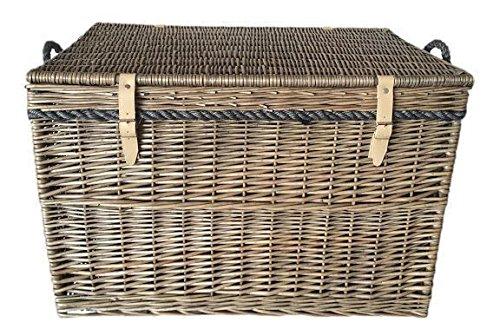 Large Antique Wash Storage Wicker Basket by Red Hamper
