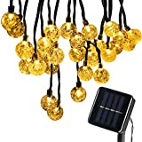 BOMEON Globe Solar String Lights 30 LED 21ft 8 Mode Bubble Crystal Ball Christmas Fairy String Lights for Outdoor Xmas Landscape Garden Patio Home Holiday Path Lawn Party Decoration (WarmWhite)