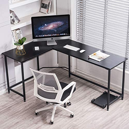 Ivinta Computer Desk Gaming Desk L Shaped Desk Office Desk Corner Desk Modern Writing Desk Executive Desk PC Gaming Desk Study Desk