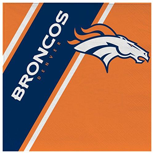 NFL Denver Broncos Disposable Paper Napkins, Pack of 20