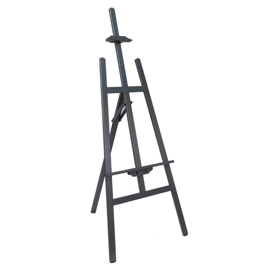 YYPAINT Easel Art Easel Lifting Display Stand Pine Tripod Indoor And Outdoor Sketch Frame 1.45m Adjustable ( color   BLACK )