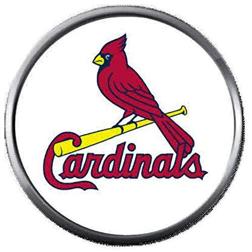 (St Louis Cardinals On Bat MLB Baseball Logo 18MM - 20MM Snap Jewelry Charm)