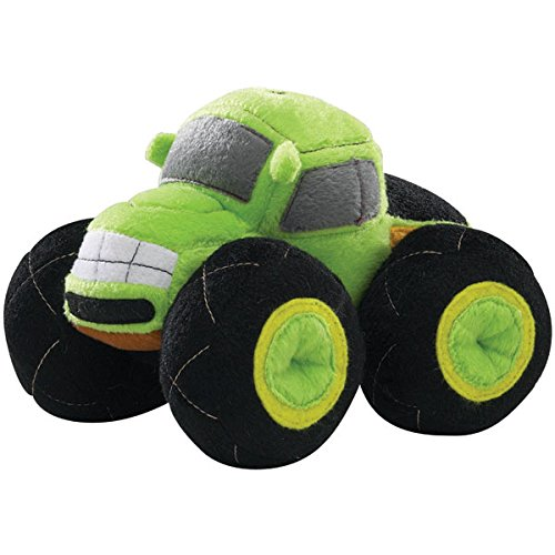 """Monster Mobile, Dog Toy, Squeaky Toy, 6.5"""" Plush Dog Toy, Green"""