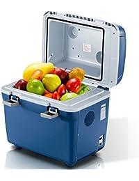 SL&BX 20l car refrigerator,Car household mini fridge car dual-use small dormitory warm and cold portable compact personal fridge-Blue 40.5x29x43cm(16x11x17inch)