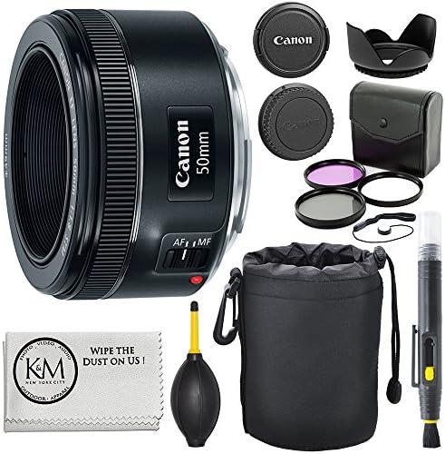 Lente Canon Ef 50mm F 1 8 Stm 3 Filtros Lápiz Limpiador De Lentes Soplador Capucha Estuche Para Lente Tapa Home Audio Theater Amazon Com