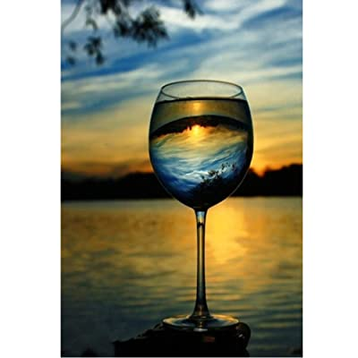 Jigsaw Puzzle 1000 Piece Wine Glass DIY Home Decoration Gift Classic Puzzle 3D Puzzle DIY Kit Wooden Toy Unique Gift Home Decor: Toys & Games