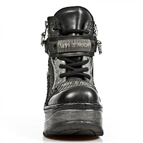 Nuovi Stivali Da Roccia M.sp0002-c1 Gotico Hardrock Punk Damen Sneeker Schwarz