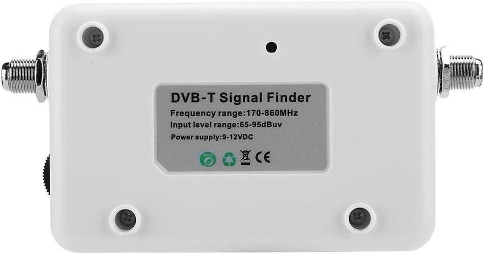 Medidor de Intensidad de se/ñal Digital de TV Duradera Pantalla Digital con Cargador de bater/ía para Encontrar el Lugar de instalaci/ón de la Antena DVB-T Buscador satelital