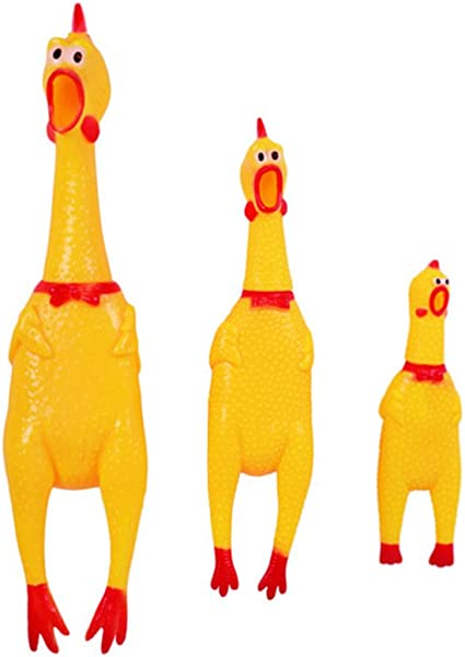 Lovely Rubber Pet Dog Chew Toy Pet Squeaky Toy Screaming Chicken Pet Supplies