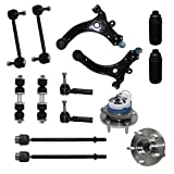 99 grand prix ball joint - Detroit Axle - New Complete 14-Piece Front Suspension Kit - 10-Year Warranty- Front: 2 Wheel Bearings, 2 Control Arms & Ball Joints, 4 Tie Rod Ends, 4 Sway Bar Links, 2 Tie Rod Boots…