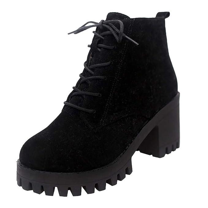 a1f44f1a8 POLPqeD Zapatos Mujer otoño 2018 Botines Mujer Invierno Calzado Mujer con  Cordones Botas Altas Tacon Botines Talon Mujer Tacon Botas Mujer tacón Alto  ...