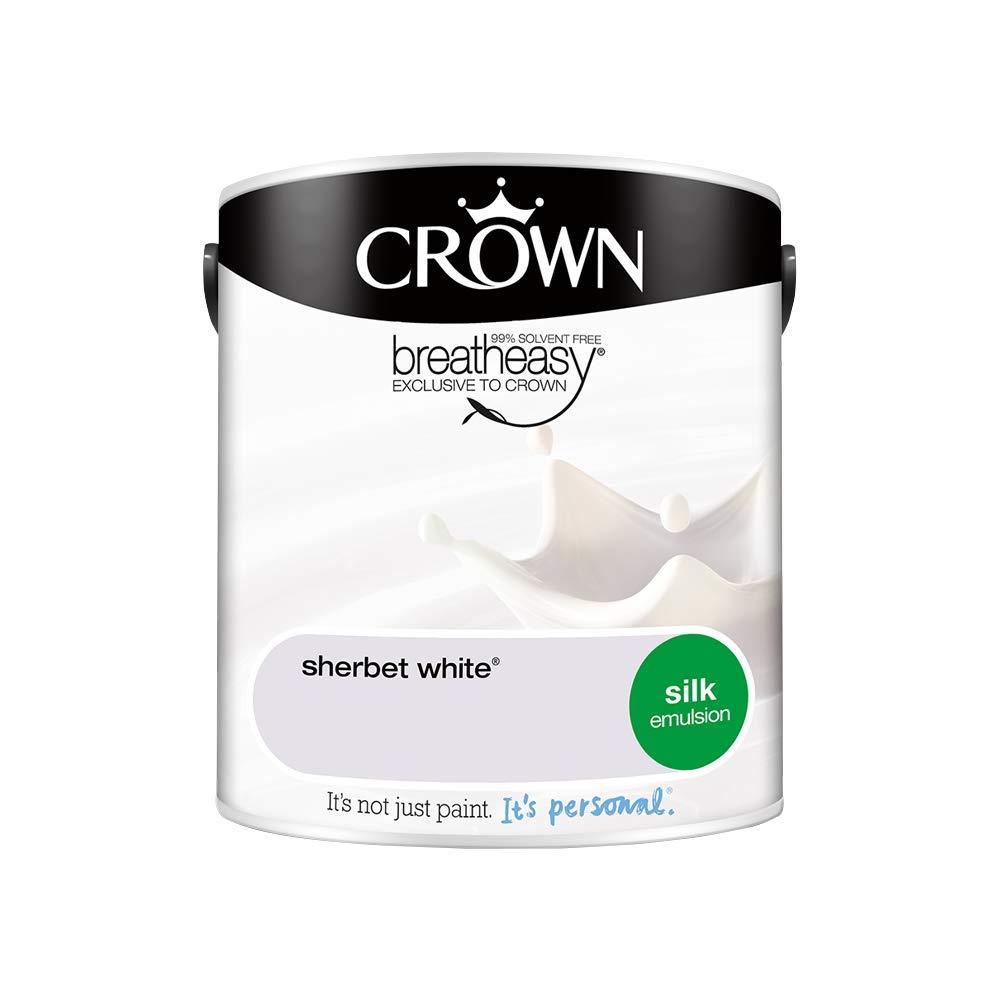 Crown Retail Core Emulsion Silk Sherbet White 2.5 L Crown Paints 5091602