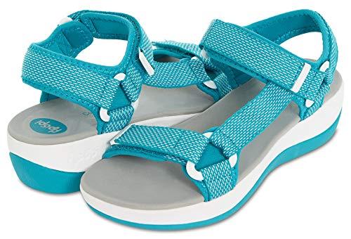 Multiple Strap - Floopi Summer Beach & Sports Sandals for Women   Multiple Adjustable Velcro Strap Design  Lightweight Outdoor, Walking, Hiking   1.75