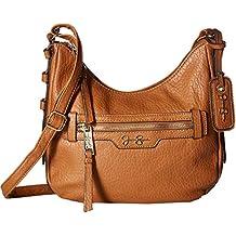 Jessica Simpson Womens Everly Faux Leather Textured Crossbody Handbag
