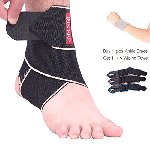 Ankle Brace,Adjustable Ankle Support Breathable Nylon Material Super Elastic and Comfortable One Size Fits All, Perfect for Sports, Protects Against Chronic Ankle Strain, Sprains Fatigue (Gray) (Best Ankle Support For Sprain)