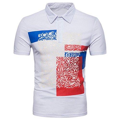 Fit T Print Regular Hemd Polohemd mit Shirt Herren Poloshirt Polokragen Slim T Kurzarm White Shirt Fit Shirts Basic Shirt Longra Shirt Shirt Men's Polo A4ZIn6zq6x