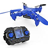 DROCON Scouter Foldable Mini RC drone for kids with Altitude Hold Mode, One Key Take off Landing, 3D Flips and Headless Mode Quadcopter Easy Fly
