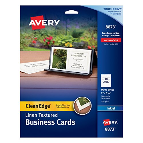 avery business cards clean edge - 5
