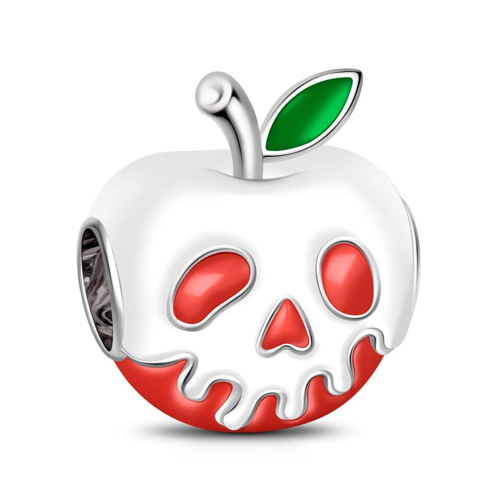 GNOCE Pomme en Forme de Charme Pendentif 925 Breloques en Argent Sterling pour Bracelets et Colliers Cadeau pour Elle UK_B07D6KQ5WT
