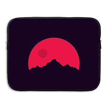 d-muse rojo luna montaña ordenador bolsa de almacenamiento portátil impermeable Funda para portátil de