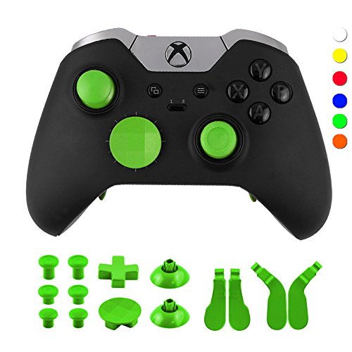 WPS Metal Alloy Bumper Trigger Button Set for XBOX One Elite Controller with Open Tools ( T6 T8 ) - Green