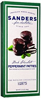 product image for Sanders Pavilion Dark Chocolate Peppermint Pattie, 3.75 Ounce (Pack of 12)